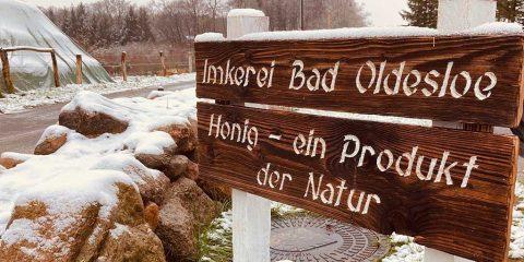 Imkerei Holzschild