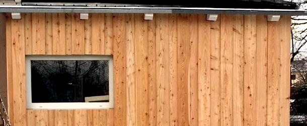 Boden-Deckel-Schalung aus Lärchenholz